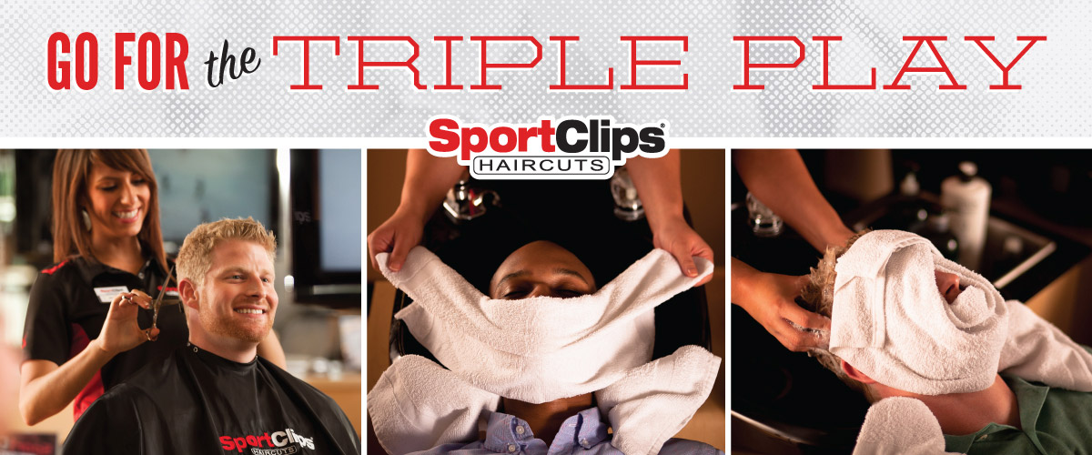 The Sport Clips Haircuts of University Place Triple Play